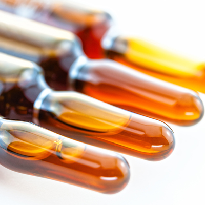 Viles of medicine